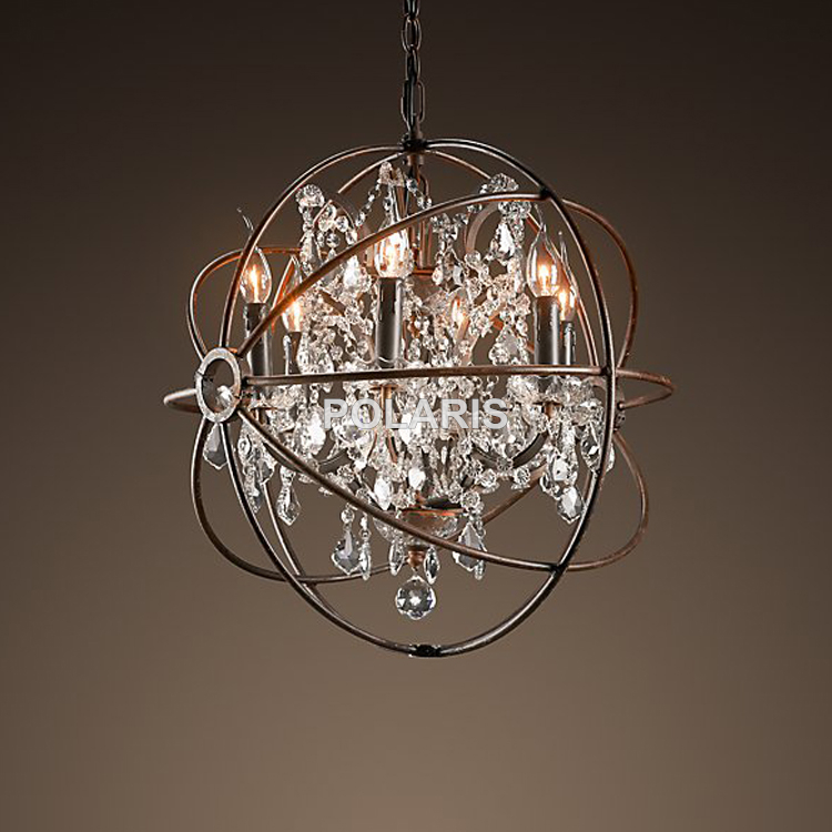 Modern Vintage Orb Crystal Chandelier Lighting Rh Rustic Candle Chandeliers Led Pendant Hanging Light For Home Hotel Decoration In From Lights