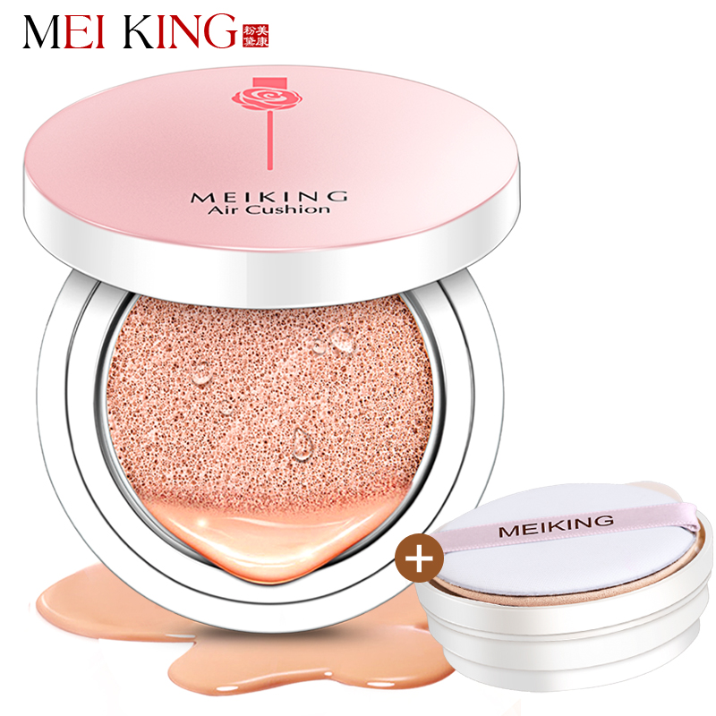 MEIKING Rose Beauty Air Cushion BB & CC Creams Mineral Makeup Matte Finish Concealer Whiteing Moisturizing Foundation DD Cream fashion inspirational letters pattern wall sticker for livingroom bedroom decoration