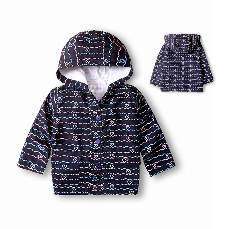 Free Shipping New 2016 Kids Children's Girls Boys unisex long sleeved hooded jacket printed love stripes Hoodie windbreaker