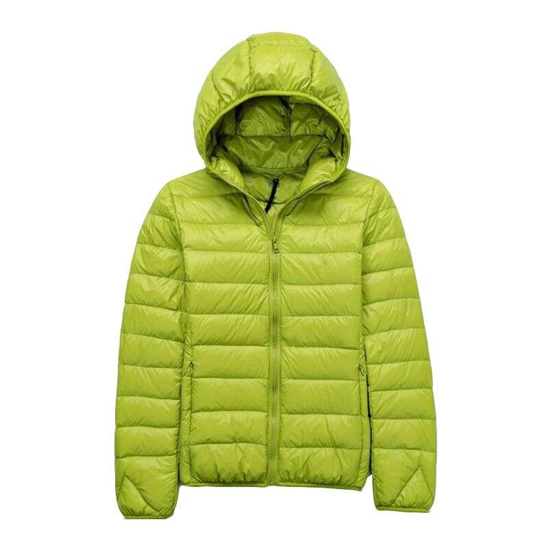 2018 Winter Women 90% White Duck   Down   Jacket Women's Hooded Ultra Light   Down   Jackets Warm Winter   Coat   ZLC004