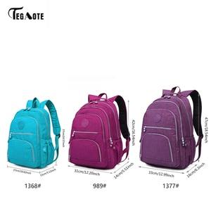 Image 2 - TEGAOTE School Bag Waterproof Nylon Brand Laptop Backpacks For Teenager Women Backpack Leisure Shoulder Bags Computer Packsack