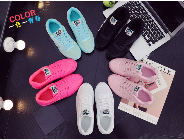 18 Fashion Sneakers Women Shoes Spring Tenis Feminino Casual Shoes Outdoor Walking Shoes Women Flats Pink Flas Ladies Shoes 15