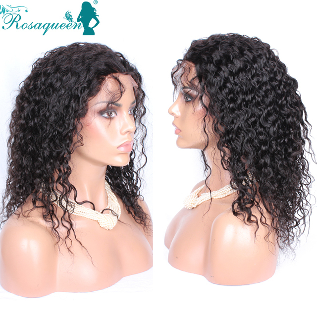 Full Lace Human Hair Wigs For Black Women Curly Virgin Hair Wigs Deep Loose Curly Lace Front Wig Bleached Knots Full Lace Wigs