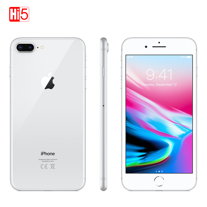 Unlocked Apple Iphone 8 plus mobile phone 64G/256G ROM 12.0 MP Fingerprint iOS 11 4G LTE smartphone 1080P  4.7 inch screen-in Cellphones from Cellphones & Telecommunications