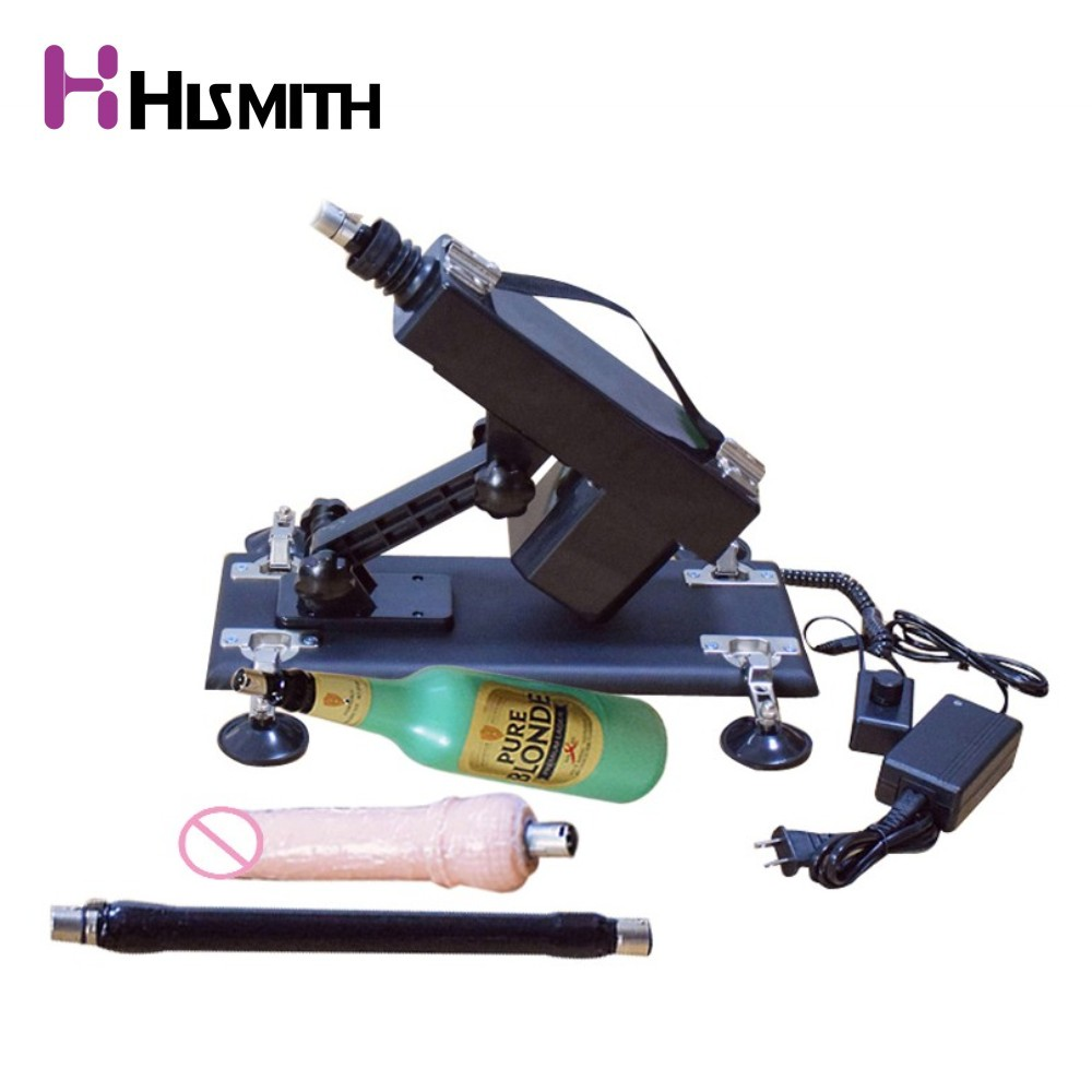HISMITH Updated Version Sex Machine Set for Men and Women Automatic Retractable Love Machine with Vagina Cup Vibration Sex Toys auto handfree retractable piston pricky male masturbation cup for men penis massage aircraft cup passion cup adult sex products