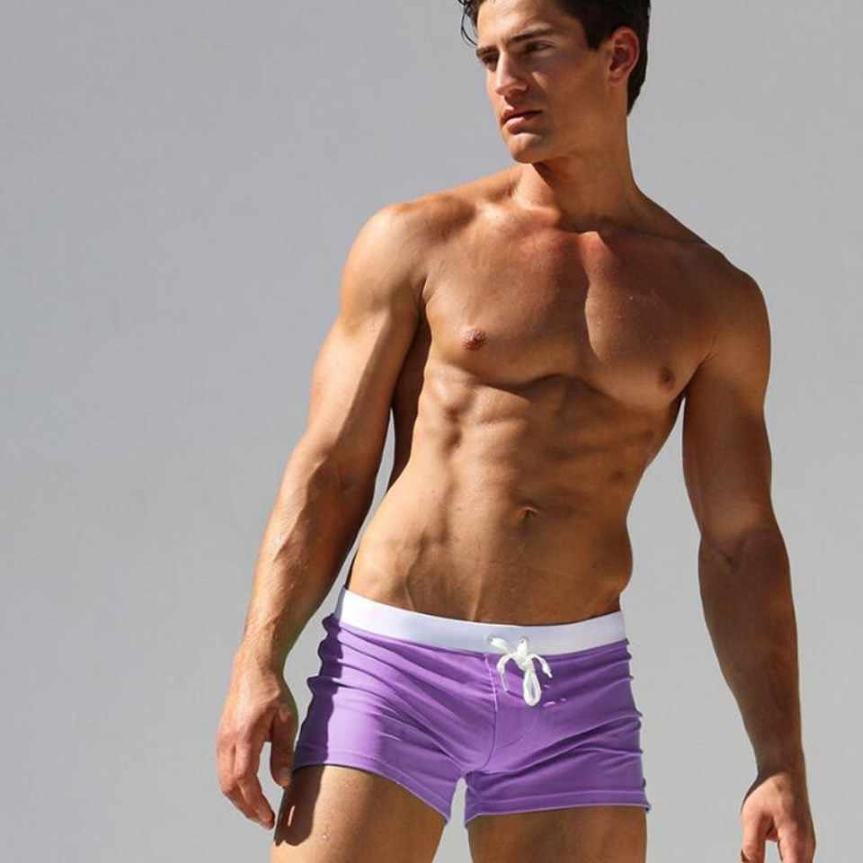 Suotf cores dos homens calções de natação calções de banho calções de banho dos homens calções de briefs de banho dos homens maiôs crianças plus size masculino maiô