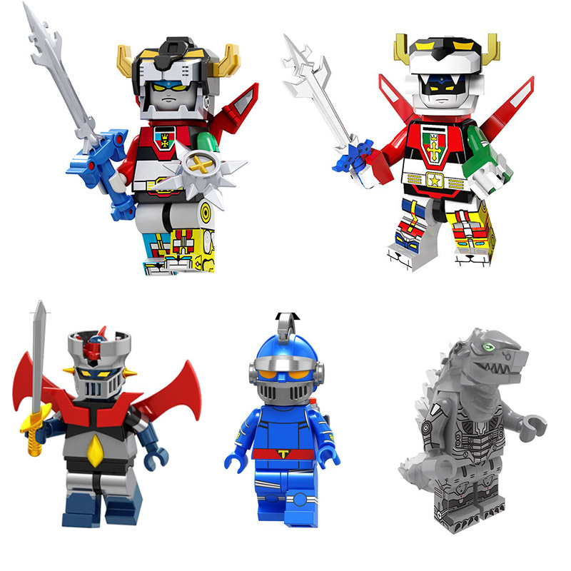 Japanese Anime Series Voltronly Robot Minifigured Voltron Building Blocks Figure Bricks Toys Gift Compatible With Bela