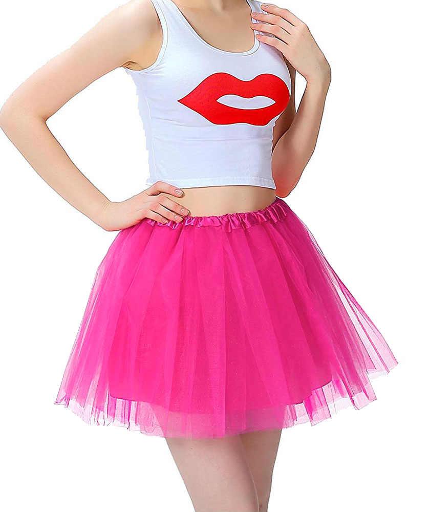 fdd3d4adfb09 ... Falda tutú de muchos colores para mujer Falda de baile de Ballet tutus  Mini falda de ...