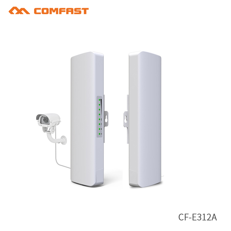 2pcs 5.8ghz Comfast Wireless Outdoor CPE WIFI Router 500mW 3-5km Distance 300Mbps Wireless Acce Point CPE wi fi POE WIFI Bridge comfast wireless outdoor router 5 8g 300mbps wifi signal booster amplifier network bridge antenna wi fi access point cf e312a