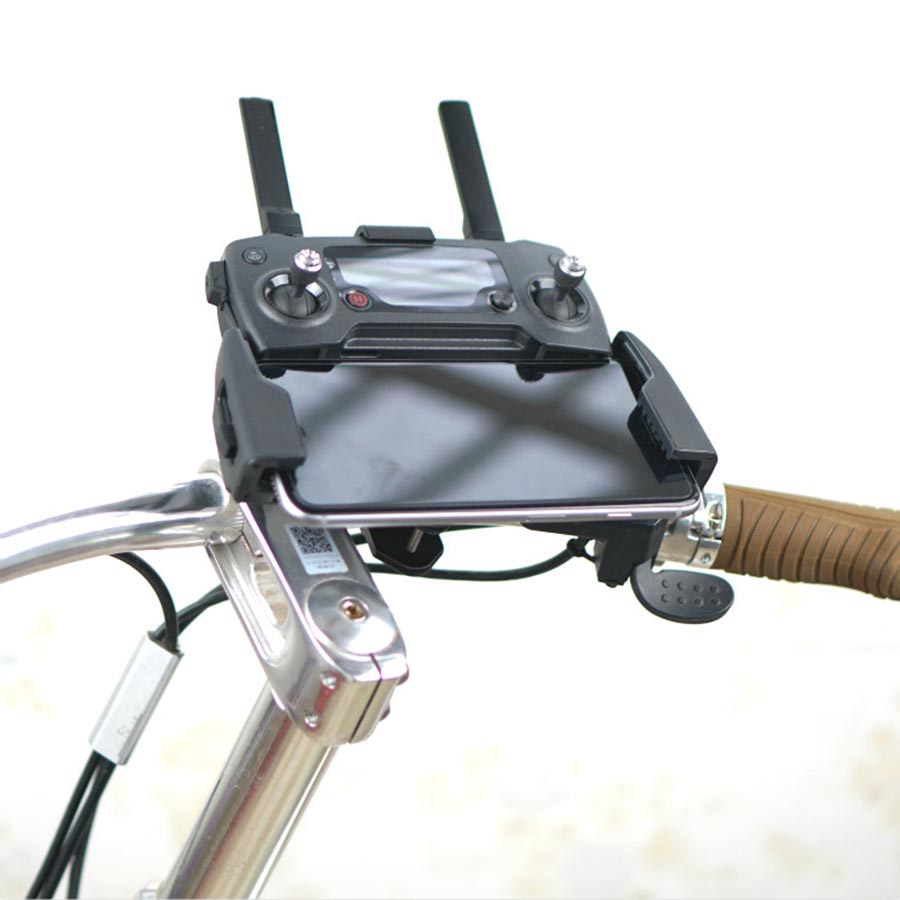 3D Printed Smartphone Controller Bracket Holder Support on Bicycle Clip Mount for DJI SPARK font b