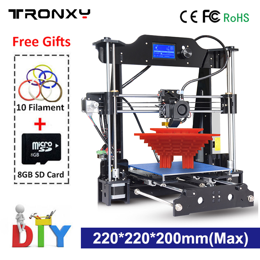 Auto level 3D Printer I3 Extrusion kit 3d Printing 10m Filament SD card As Gift LCD Screen HeatedBed 3D Printer Kit Impresora 3D 2017 newest tevo tarantula 3d printer impresora 3d diy impressora 3d with filament micro sd card titan extruder i3 3d printer