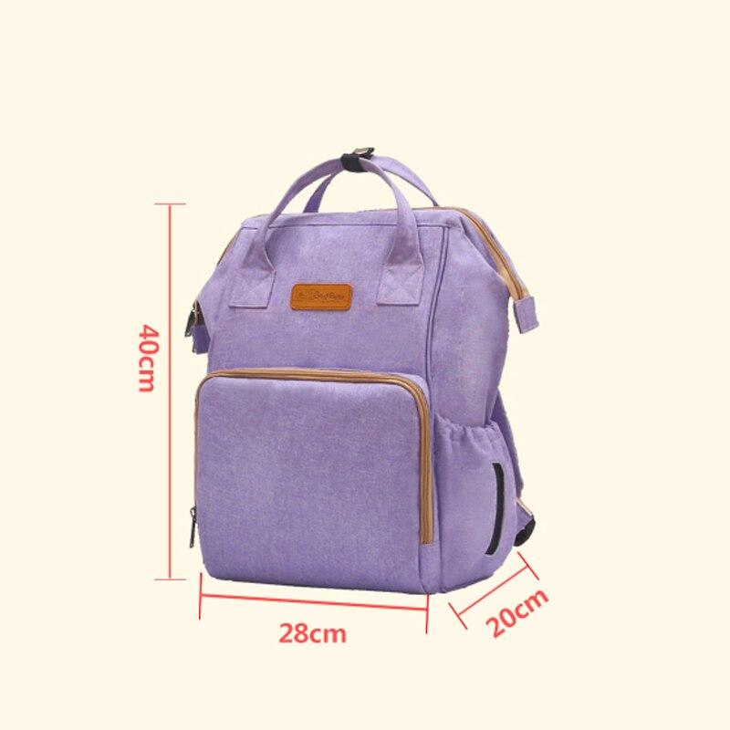 2018 moda mamá maternidad pañal bolsa de gran capacidad bolsa de viaje mochila Desinger bolsa de enfermería para cuidado del bebé mochila - 6