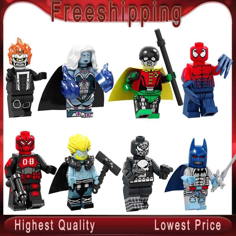 Marvel Super Heroes  Mr.8 Killer Frost Thor Toxin Ghost Rider Robin Knight Batmans  Building Blocks Toys PG8194