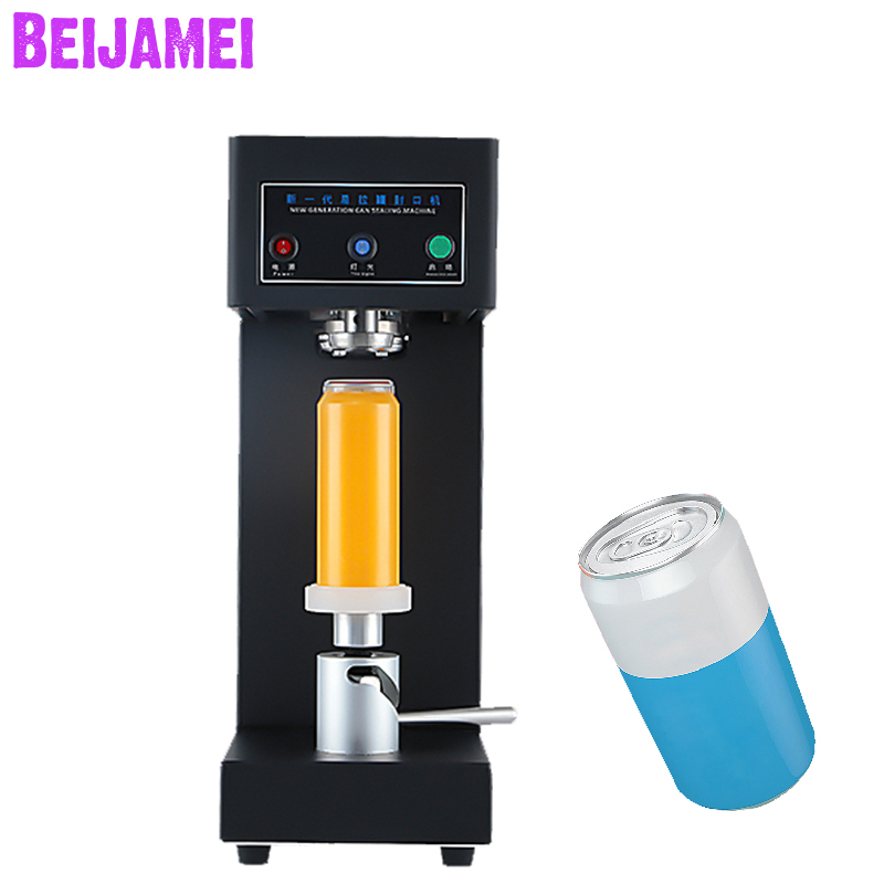 BEIJAMEI Commercial cans sealer machine milk tea coffee drink bottle sealing cup Beverage cans seamer