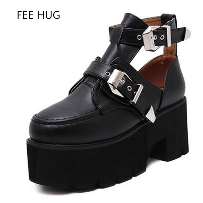 2017 Fashion Women Shoes Spring Summer Height Increasing Buckle Casual Shoes Platform Single Pumps Shoes Woman