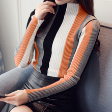 Winter turtleneck sweater women sweaters fashion Autumn 2019 sueter mujer pull femme hiver pullover striped 14A