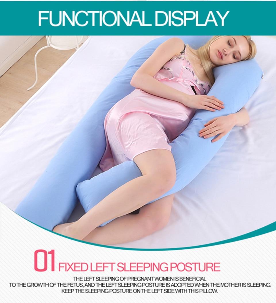 Bedding Pillows U Shape Pregnancy Pillow Full Body Maternity Pillow Comfort Sleeping Support Pillow For Pregnant Women Body _09_