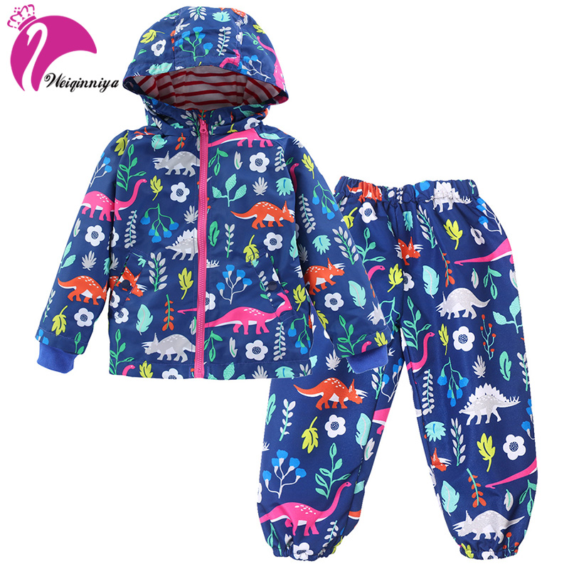 Winter Girls Clothes Sets For Children High Quality 2018 Spring Long Sleeve Cartoon Print Toddler Girls Sport Suit For Kid