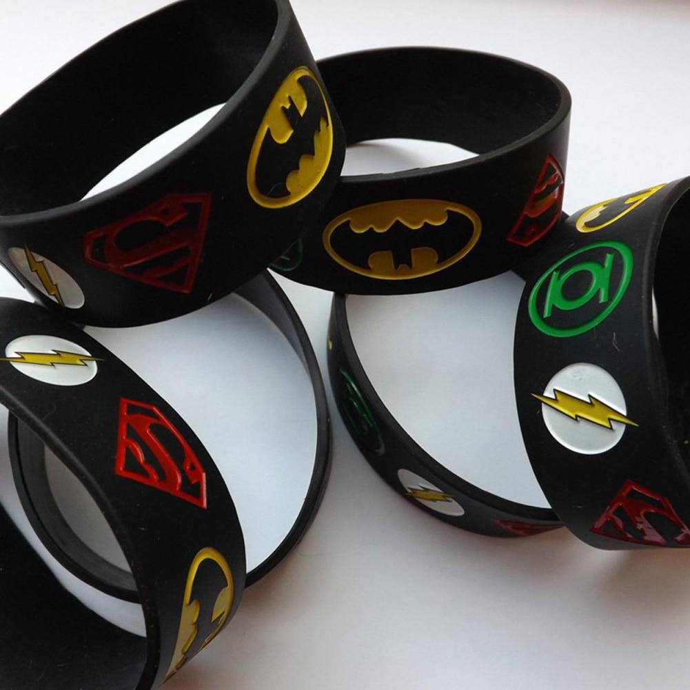 1 St Super Heroes Siliconen Armband Met Superman, Batman, Groene Lantaarn, De Flash, Alternatief Ontwerp Polsband