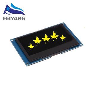 """Image 4 - 2.42 """"2,42 inch LCD Screen Weiß Gelb Grün Blau 128x64 OLED Display Modul IIC I2C SPI Serielle für C51 SPD0301"""