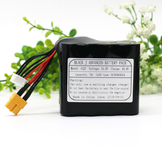 KLUOSI UAV Rechargeable Li-ion Battery 14.8V /16.8V  7Ah 4S2P Use Single Cell NCR18650GA Combination Suitable for Various Drone