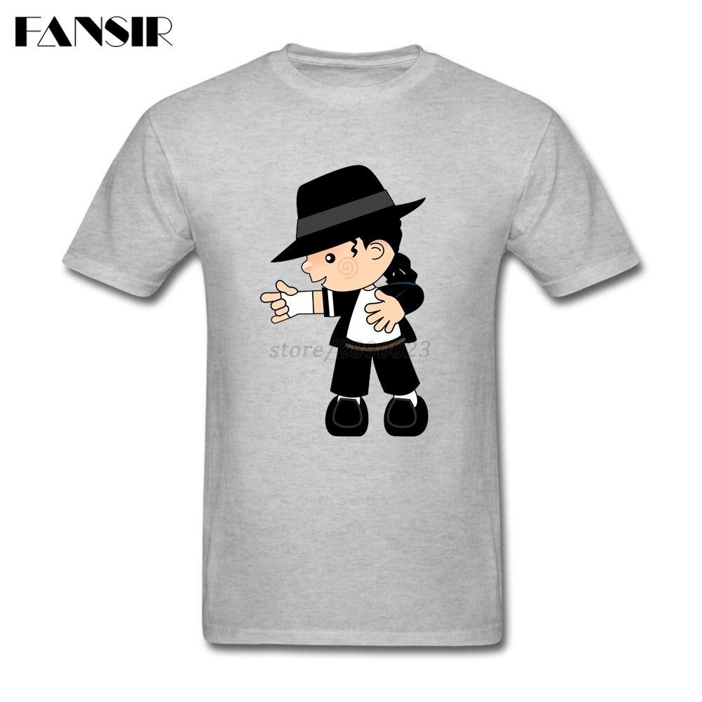 Erkek T-Shirt 2017 Yaz Moda % 100% Pamuk Kısa Kollu T-Shirt erkekler Man Michael Jackson Uzay Dans Genç Marka Giyim