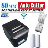 2pcs Lot Wifi 80mm POS Thermal Receipt Bill Printer Set Auto Cutter 260mm S DHL