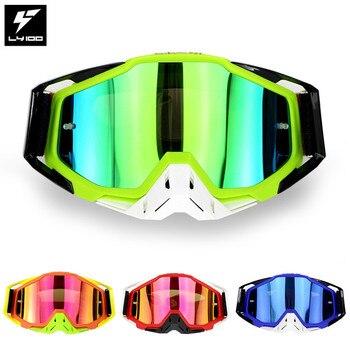 LY-100 marca original pacote da motocicleta óculos atv casque motocross óculos de corrida moto ciclismo cs gafas 1