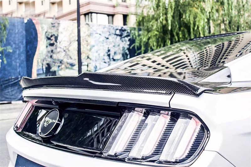 Автомобильный Стайлинг подходит для Форд Мустанг купе 2015 2016 2017 Высокое качество углеродного волокна на заднее отделение кузова крыло спойлер