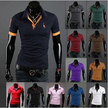 Caliente! envío Gratis 2014 nuevos hombres ocasionales adelgazan con estilo  apto de manga corta Camisa de algodón t-shirt tamaño  M-XXL 89c76a3f7dce5