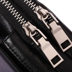 Image 5 - حقيبة جراب للهاتف المحمول/خلية عسكرية من جلد البقر للرجال مزودة بحزام للخصر