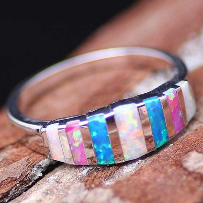 Colorful Ring Design Wedding Rings For Women CZ Stone Zircon Rings Gift  Jewelry 5/6/7/8/9/10/11/12