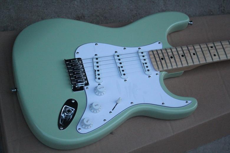 Electric-Guitar Chrome-Hardware Alder Green-Maple-Fingerboard Custom Factory Body-Standard