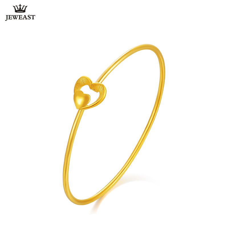 24K Pure Gold Bracelet Real 999 Solid Gold Bangle Buckle Beautiful Heart Trendy Wonderful Upscale Fine Jewelry Hot Sell New 201824K Pure Gold Bracelet Real 999 Solid Gold Bangle Buckle Beautiful Heart Trendy Wonderful Upscale Fine Jewelry Hot Sell New 2018