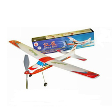 Free Shipping Linnet Rubber Band Powered Aircraft Model DIY plane model Assembled Toy puzzle children gift
