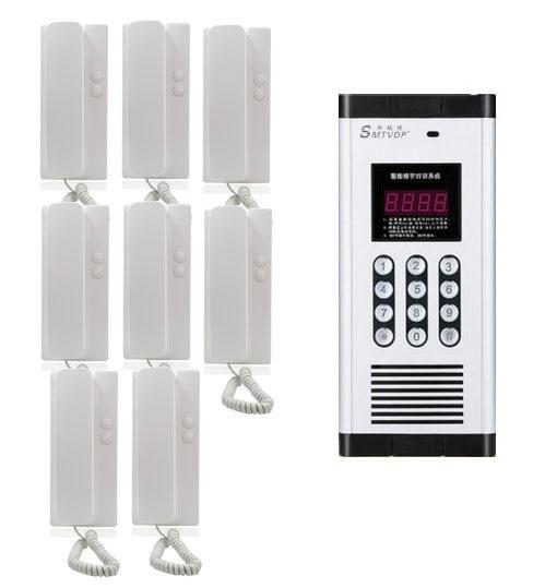 Passwort Entriegelung Funktion Zu Den Ersten äHnlichen Produkten ZäHlen Neue Ankunft Nicht-visuelle Gebäude Intercom System Für 8-wohnungen Audio Tür Telefon