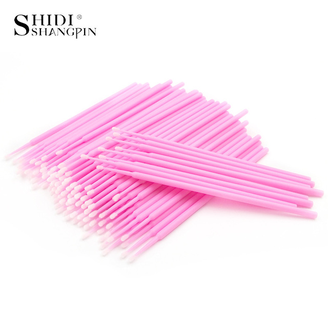 SHIDISHANGPIN 100pcs Disposable Eyelash Extension Tools Individual lashes Applicators Mascara Brush Lash Extensions Cotton Swab 2