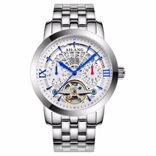 AILANG luxury Swiss watch brand watches mechanical sapphire hollow stainless steel tourbillion mens fashion