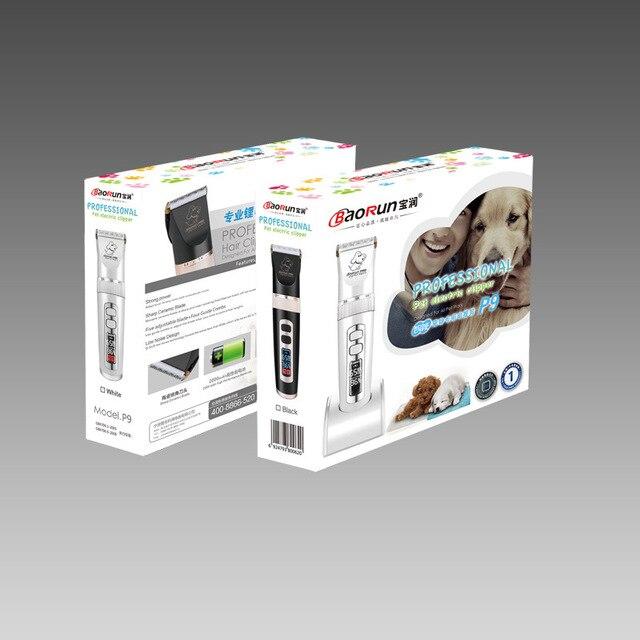 BaoRun Professionelle P9 Hund Haar trimmer LCD Screen Pet Clipper Haustier Hund Katze Haar Trimmer Rasierer Haustiere Haarschnitt Maschine