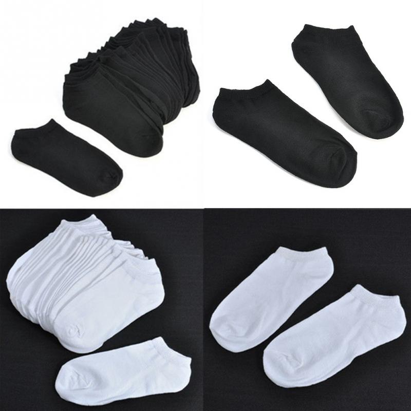 10pair/pack White/Black Low Cut Cotton Boat Socks Running Walking Yoga Ankle Socks Women Sports Socks