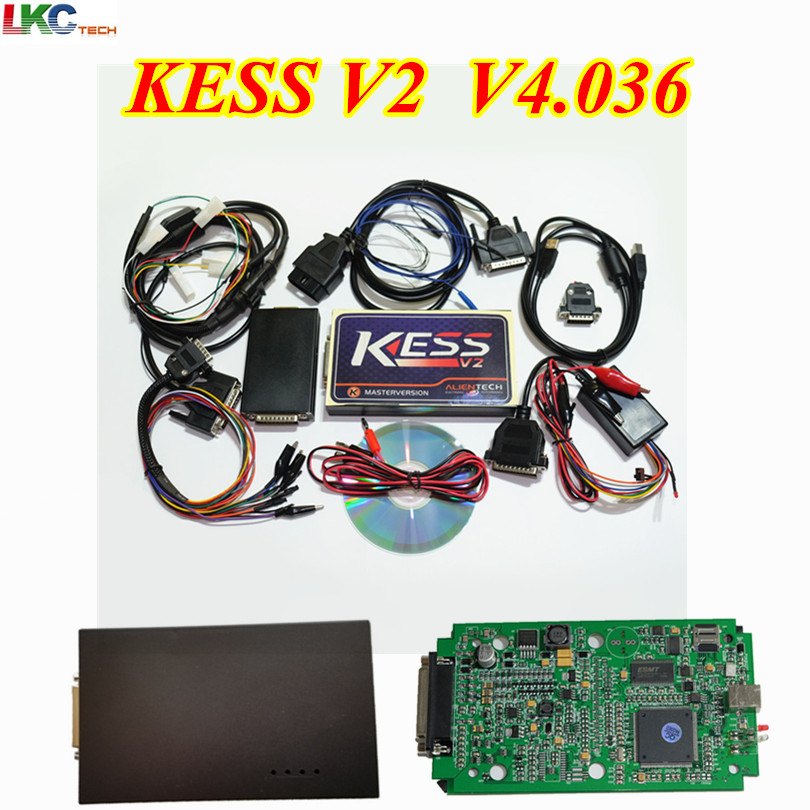 2018 Newest KESS V2 V2.32 FW V4.036 KESS V2 OBD2 Tuning Kit No Token Limitation ECU Chip Tuning Tool KESS V2.32 Master Version цены