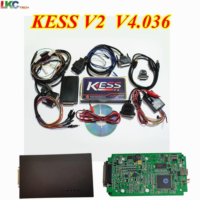 2019 Date KESS V2 V2.32 FW V4.036 KESS V2 OBD2 Tuning Kit Aucun Jeton Limitation ECU Chip outil d'accordage KESS V2.32 maître Version