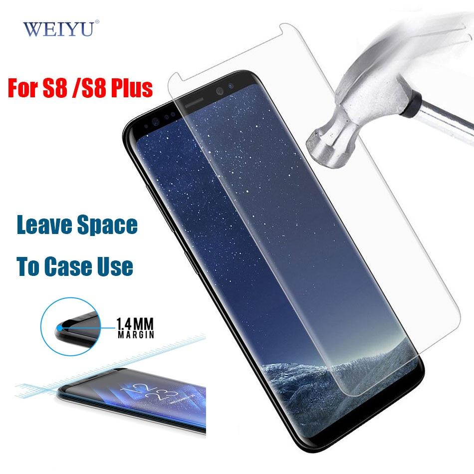 bilder für Weiyu 30 teile/los dhl für samsung galaxy s8/s8 plus 3d hartglas displayschutzfolie fall freundliche nicht volle deckung