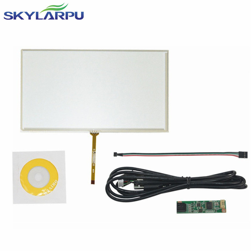 skylarpu New 9 inch 4 Wire Resistive Touch Screen Panel Digitizer USB 211*126mm Screen touch panel Glass Free shipping amt 146 115 4 wire resistive touch screen ito 6 4 touch 4 line board touch glass amt9525 wide temperature touch screen