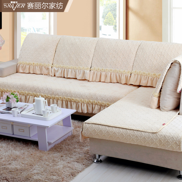 Sofa Cover Fall New High End Fashion Winter Warm Plush Quilted