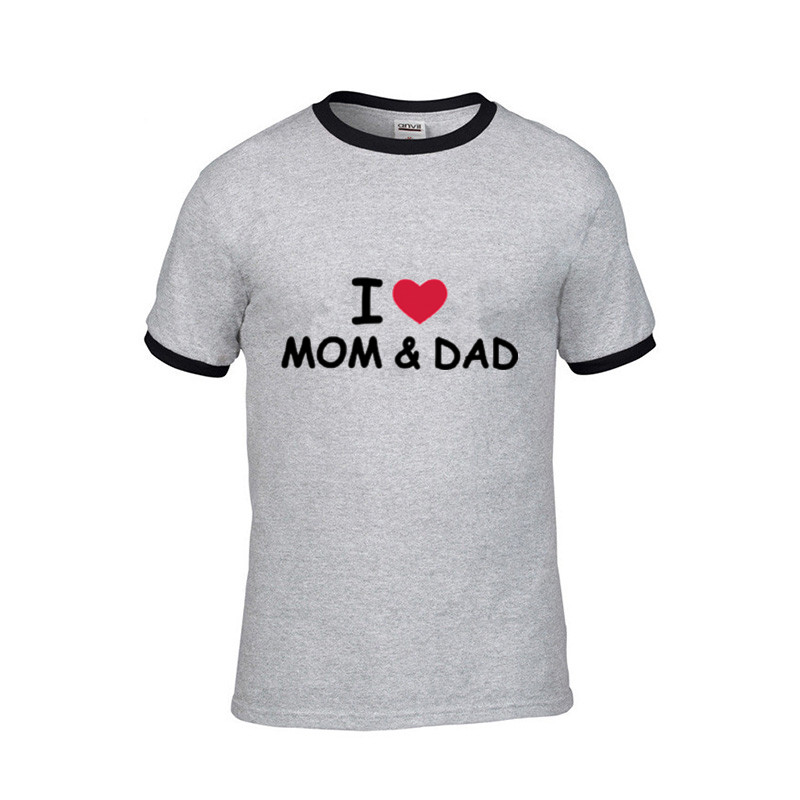 2019 STREETWEAR I Love You Mom and Dad Wallpaper of Parents Day Men funny t shirts