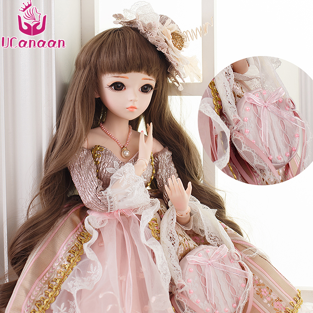 UCanaan 60CM SD/BJD Dolls Sweet Princess Doll 18 Joints Outfit Dress Shoes Wigs Makeup Girls Toys Best Christmas Gift Collection atreus for 2015 nissan murano 2016 2017 2018 accessories car rear boot liner trunk cargo mat tray floor carpet pad protector