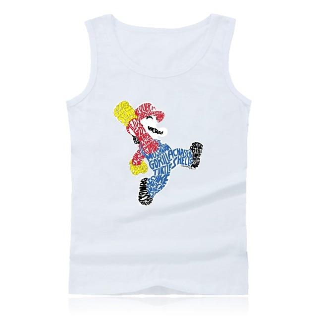 085748735b04 Drôle Super MarioRun Bodybuilding Débardeurs Hommes De Mode Jeu Super Mario  Bande Dessinée Débardeur Hommes Fitness