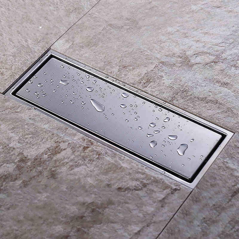 ФОТО Invisible Tile Insert Rectangular Floor Waste Grates Bathroom Shower Drain 300x 110mm , 304 grade stainless steel  floor drain