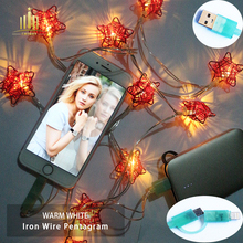 A Christmas light that can be recharged Apple android charging cable USB LED String Light Waterproof  Lights For Party Wedding